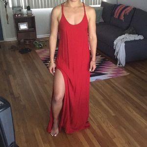 Reformation sexy red dress like new